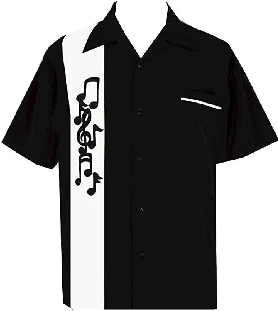 BeRetro Musicans Music Note Black Shirt
