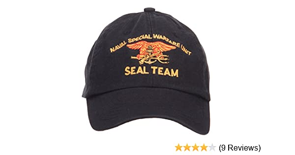 27258b7579c1b E4hats Naval Warfare Seal Team Military Embroidered Low Profile Cap - Black  OSFM at Amazon Men s Clothing store