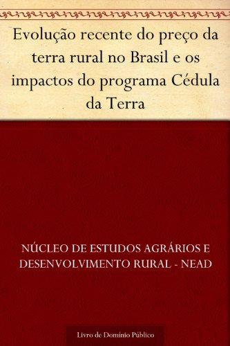 Evolução recente do preço da terra rural no Brasil e os impactos do programa Cédula da Terra