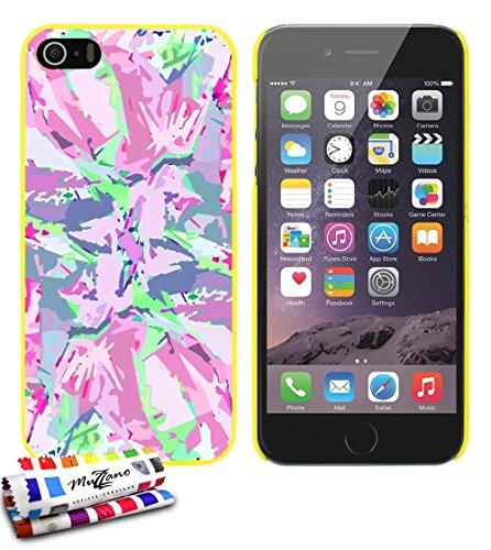 Ultraflache weiche Schutzhülle APPLE IPHONE 5 [Camouflage rose] [Gelb] von MUZZANO + STIFT und MICROFASERTUCH MUZZANO® GRATIS - Das ULTIMATIVE, ELEGANTE UND LANGLEBIGE Schutz-Case für Ihr APPLE IPHONE