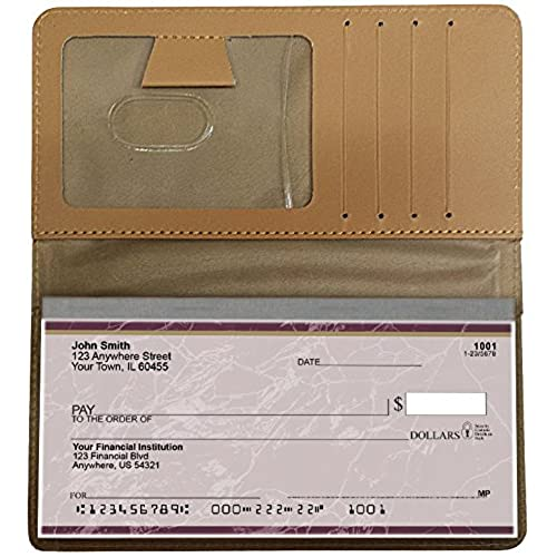 Beachfront Views Personal Leather Checkbook Cover