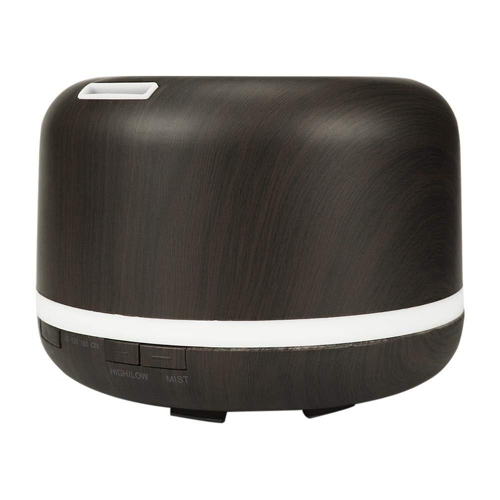 300ミリリットルUSBウッドグレインアロマ加湿器7色光清浄器(ホワイト niomou B07PYNY354 アメリカ、ダークブラウン  アメリカ、ダークブラウン