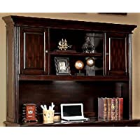 Furniture of America CM-DK6208H Coolidge Cherry Desk Hutch Miscellaneous-Home Office