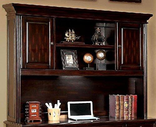 Furniture of America CM-DK6208H Coolidge Cherry Desk Hutch Miscellaneous-Home Office