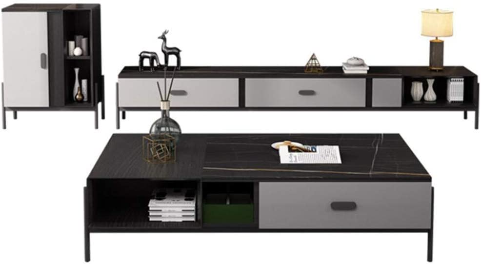 Nordic TV Cabinet small Apartment Home Living Room Floor Cabinet Hotel Apartment Audio-Visual Cabinet Coffee Table Combination