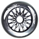Trurev Black 110mm Skate Wheels- Outdoor 85A Set of 8 Wheels