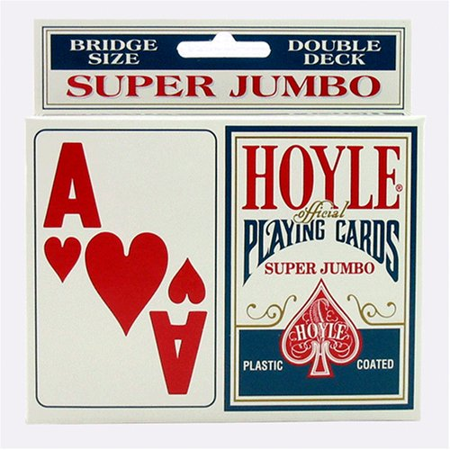 Educational Products - Hoyle Super Jumbo Playing Cards (2pk) - Great gift (Large Print Playing Cards)