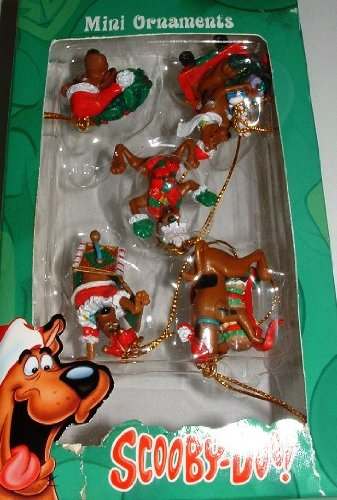 (Scooby Doo Christmas Holiday 5-piece MINI ornament set)