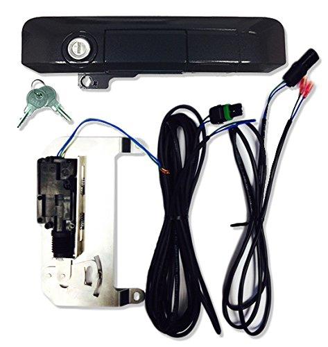 Pop & Lock PL85513 Black Sand Pearl Power Tailgate Lock for Toyota Tacoma (Smart Lock Combo)