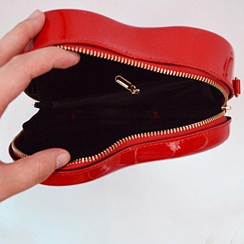 Shoulder Casual Colorful Bags Bags Fashion Leather Meliya Rainbow PU Traveling Crossbody Bags Red Square Women qC0wxzXZ
