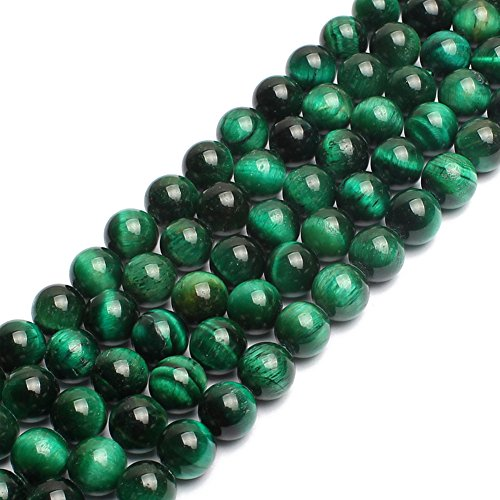 Natural Green Tiger Eye Gemstone Round Loose Beads for Jewelry Making Findings Accessories 1 Strand 15 inches (6mm)