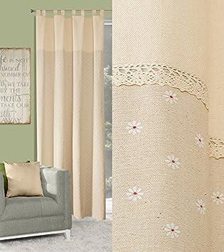 Amazon.de: Blickdicht Vorhang Schlaufenschal 140x250 cm ...