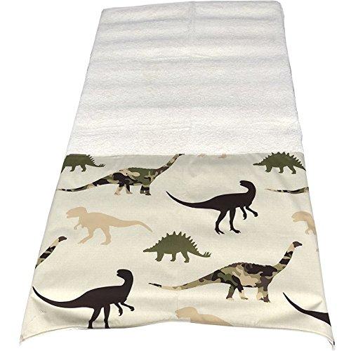toalla playa dinosaurios beige con nombre