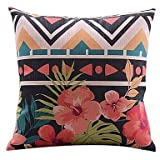 Niuge RuRu Modern Simple Home Cotton Durable Home Square Personalized Decorative Throw Pillow Cover Accent Cushion Cover Pillow Shell Bed PillowCase ( 20*30 )