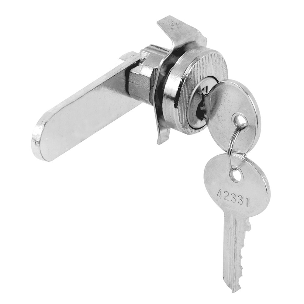 Prime-Line Products S 4297 Mail Box Lock, Counter Clockwise, 5 Pin, Bommer, Nickel Plated