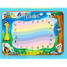 "Aqua Doodle Mat, Children Water Drawing Mat Board 2 Magic Pen Doodle Kids Educational Toy Gift, 39"" x 28"""
