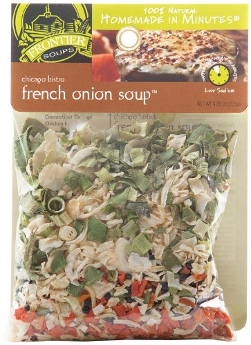 Frontier Soups Homemade In Minutes Chicago Bistro French Onion Soup, 4.75-Ounce Bags (Pack of 4)