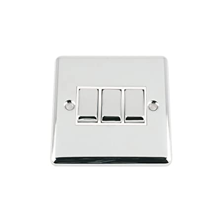 A5 light switch 3 gang polished chrome classic white insert metal a5 light switch 3 gang polished chrome classic white insert metal rocker switches 10a publicscrutiny Images
