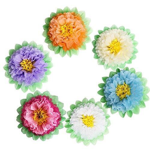 - Landisun Crafts Large Tissue Paper Flowers Pom-Pom Kit (18