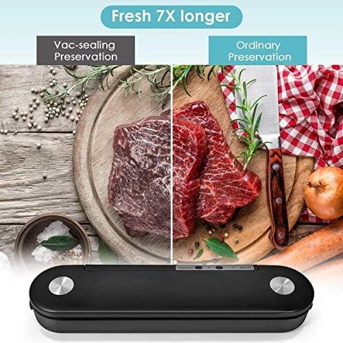 FYLD Machine sous Vide Alimentaire,Appareil de Mise sous Vide,Système Automatique de sous Vide,pour Conservation des Aliments,Inclus 10 Pcs Sac sous Vide Alimentaire