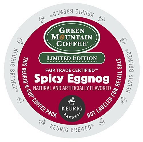 [Green Mountain Fair Trade Spicy Eggnog 4 Boxes of 24 K-Cups by Green Mountain Coffee] (Eggnog Cups)