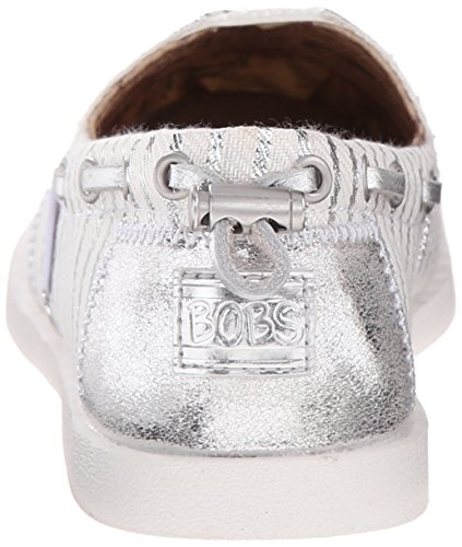 Silver Skechers De Planas Fashion White Peluche Sandalias Multicolor Las Bobs de Mujeres PqCx1SPw