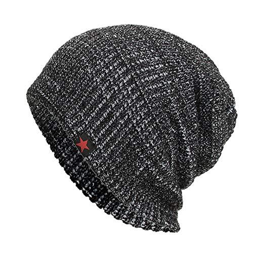 (iYBUIA Casual Unisex Warm Baggy Weave Crochet Winter Wool Knit Ski Beanie Skull Caps Hat(White,One Size))