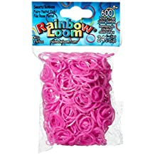 RAINBOW LOOM Sweets Fairy Pastel Pink Rubber Bands with 24 C-Clips (600 Count)