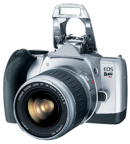 Canon EOS Rebel K2 SLR 35mm Film Camera with EF 28-90mm III Electronic Auto Focus Lens Canon Eos Rebel 35 Mm Camera