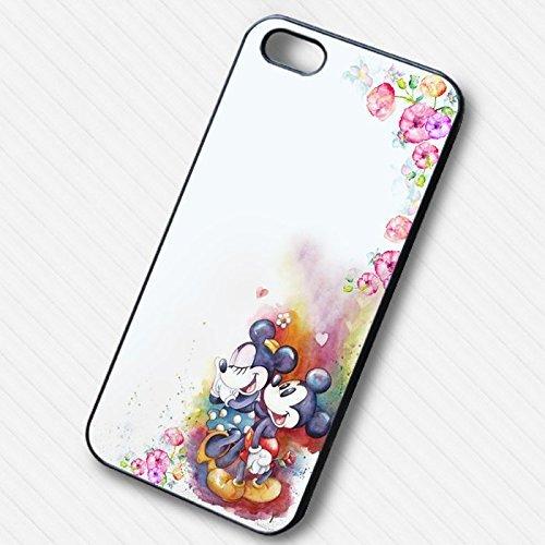 Mickey Minnie Flower Watercolor pour Coque Iphone 6 et Coque Iphone 6s Case Z4H8PK