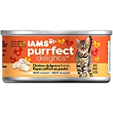 Iams PURRFECT DELIGHTS Pate Adult Wet Cat Food, Chicken, 3 oz. (Pack of 24)