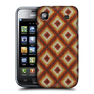 Head Case Designs Feather Indian Woven Patterns Protective Snap-on Hard Back Case Cover for Samsung Galaxy S I9000 Plus I9001 by ruishername