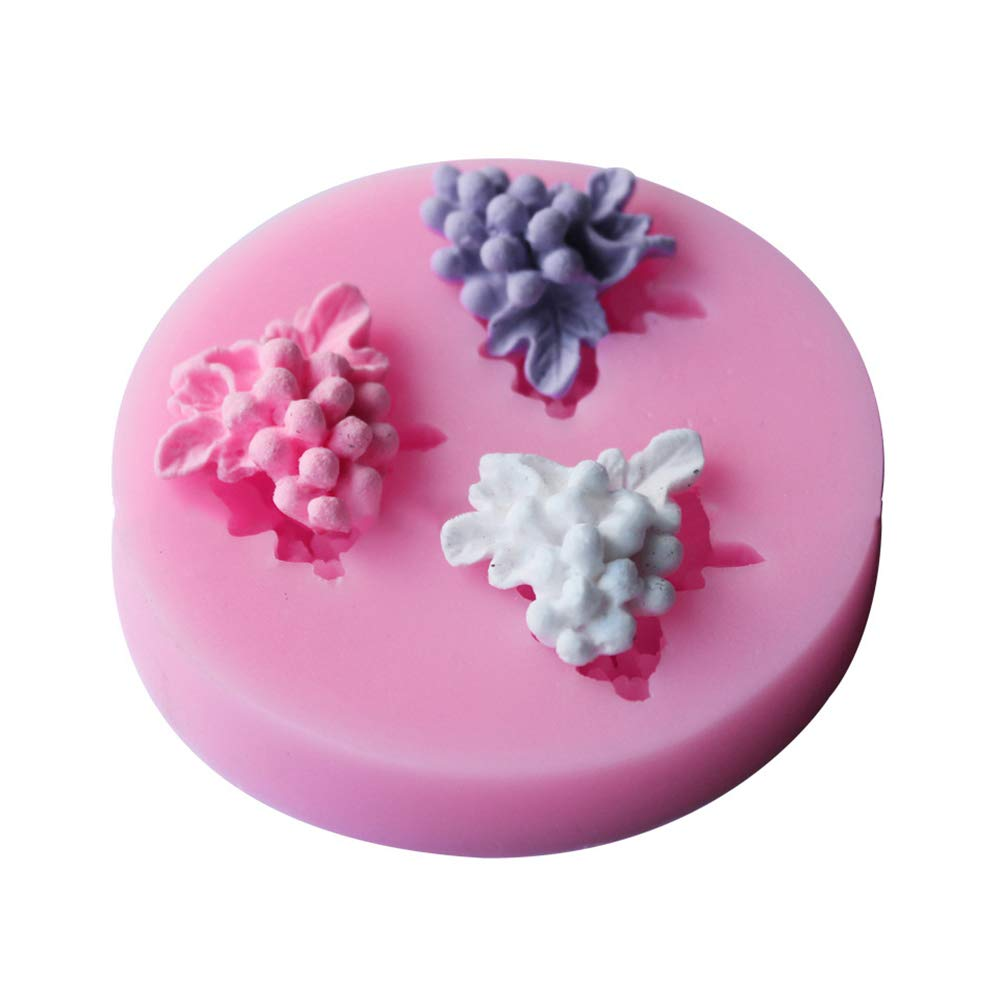 Yamalans Lovely Grape Shape DIY Fondant Cake Chocolate Mold Decorative Cookie Biscuit Silicone Ice Candy Mould Baking Tool