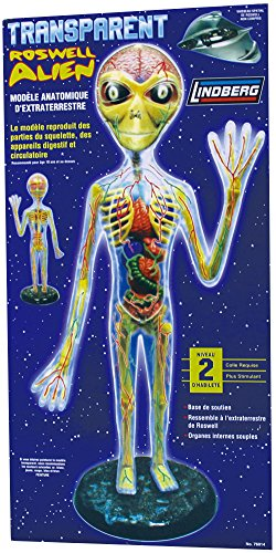 Lindberg Transparent Alien figure model kit from Lindberg