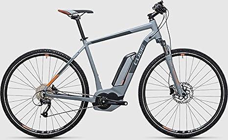 Cube Cross Hybrid One 500 bicicleta eléctrica/Cross Ebike 2017, Grau/Orange Herren: Amazon.es: Deportes y aire libre