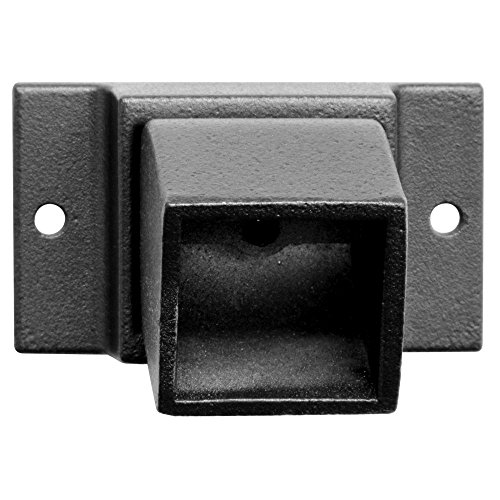 Jerith 1 x 1 in. Black Aluminum Fence Adjustable Wall Mount