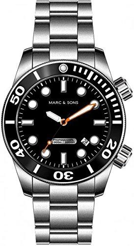 Marc & Sons 1000 metros Professional automático de buceo, Diver watch - MSD-026
