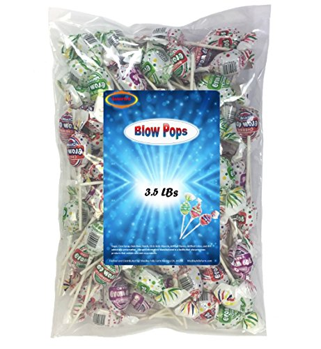 Charms Blow Pops 3.5 Lbs Assorted Individually Wrapped With a Bubble Gum -