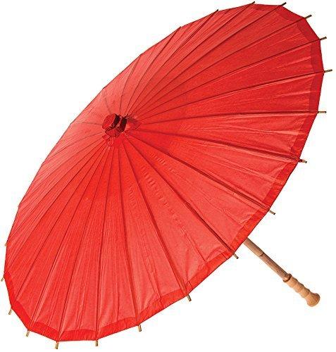 1pcs ungef/ähr 82 cm im Durchmesser, 52 cm in der L/änge TO/_GOO Gro/ßer Erwachsener Roter gro/ßer Papierschirm