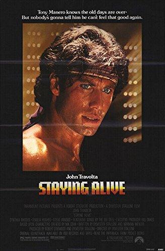 STAYING Aware (1983) Original Authentic Movie Poster - 27x41 One Sheet - Single-Sided - FOLDED - John Travolta - Cynthia Rhodes - Finola Hughes - Steve Inwood