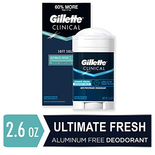 Advanced Solid Sticks - Gillette Clinical Antiperspirant Deodorant for Men, Ultimate Fresh Scent, Advanced Solid, 2.6 Ounce (Packaging May Vary)