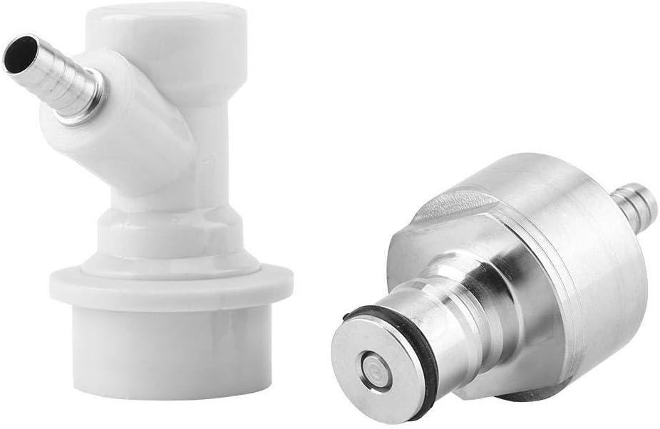 Regun Bier-Ball-Lock Homebrew Stainless Karbonisierung Cap Carbonators Mit Fl/üssigkeit Kugelsperr Disconnect 1//4 Barb Hot