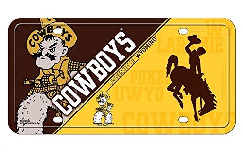 (NCAA Wyoming Cowboys Metal License Plate Tag)