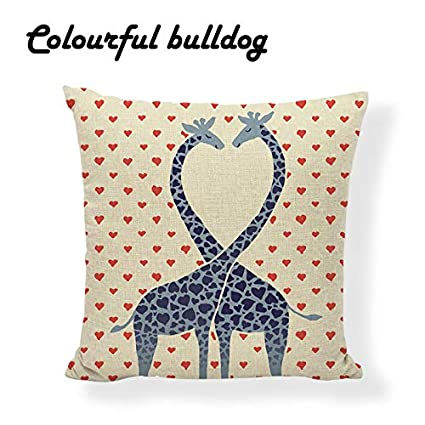 Amazon Com Geometric Pillowcase Pink Love Rabbit Cushion Cover