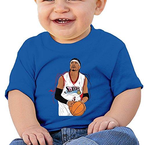 Lennakay Work Baby Allen Iverson The Answer Round Soft & Cozy Tshirts 24 Months (Baywatch Trunks)
