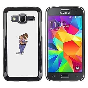 "For Samsung Galaxy Core Prime / SM-G360 Case , Mail Man Arte Dibujo 3D Figura Paquete"" - Diseño Patrón Teléfono Caso Cubierta Case Bumper Duro Protección Case Cover Funda"