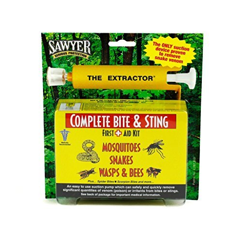 Sawyer Products Venom Extractor & Suction Pump Kit for Snake Bite, & Bee, Wasp, and Mosquito Stings