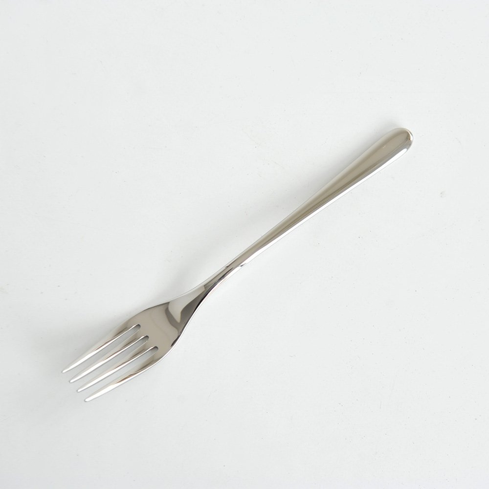 Alessi LCD01/2R4 Caccia Table Fork 4 Prongs, Silver