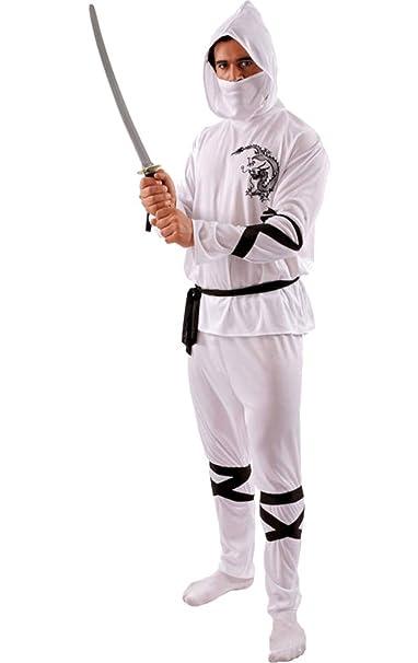 ORION COSTUMES White Ninja Costume: Amazon.es: Ropa y accesorios