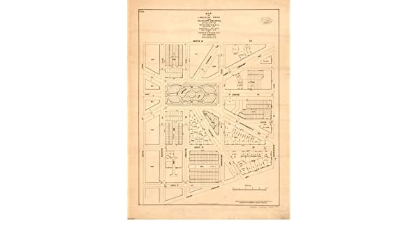 Amazon.com: 1890 Map of Lincoln Park and adjacent squares in the city of Washington, D.C. - Size: 18x24 - Ready: Posters & Prints